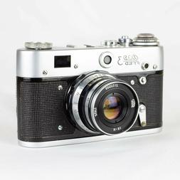 Fed-3 35mm rangefinder film camera with lens Industar-61 and